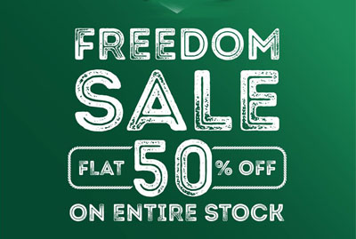 Flat 50 % off Freedom Sale At Cougar