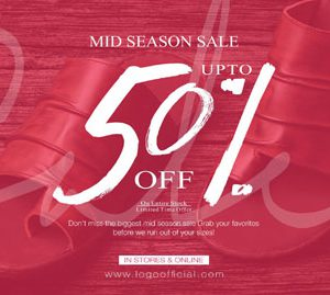 50 % off on Logo shoes for limited Time