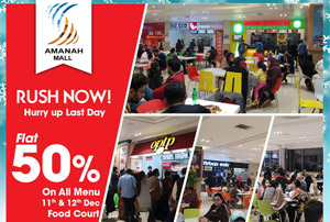 50% Flat off on Food Court