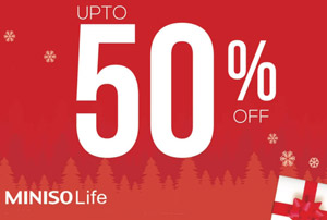 Up To 50% on Miniso