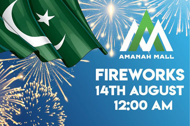 INDEPENDENCE DAY FIREWORKS AT AMANAH MALL