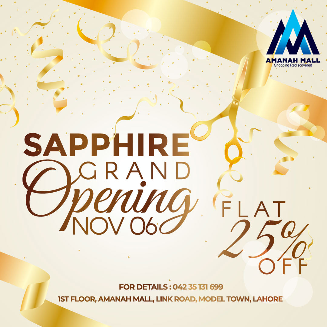 Sapphire Grand Launch on 6th November, 2020.