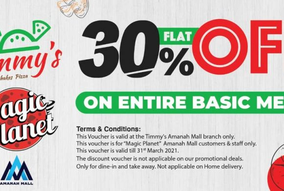 Amazing Offer for Magic Planet  Customer's By Timmy's.